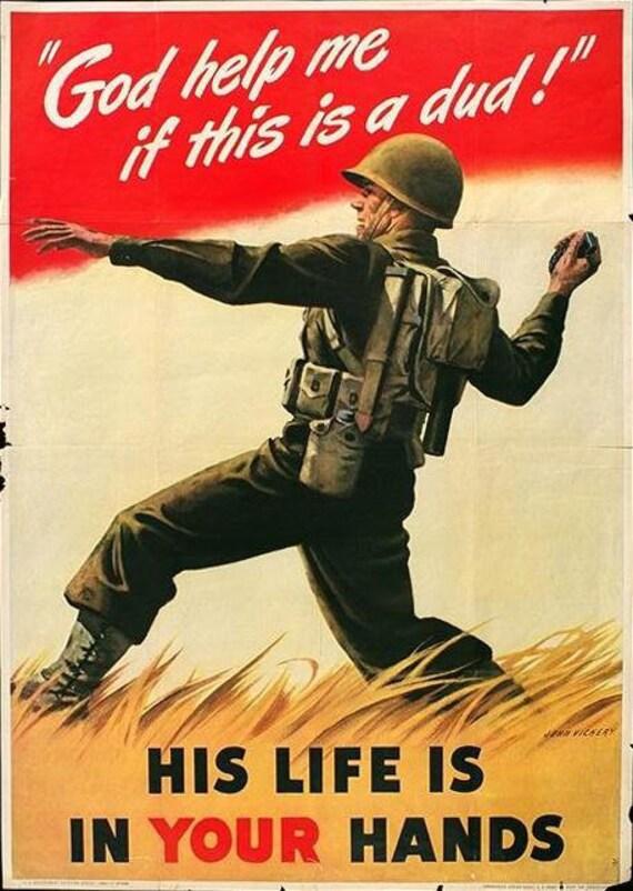 US Propaganda Posters - Handmade Fridge Magnet Set