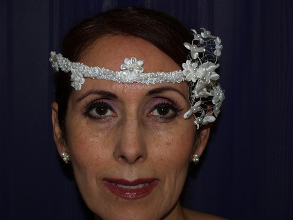 Brides White Headpiece for Sophisticated Brides