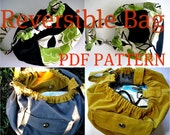 Reversible Bag PDF Sewing Pattern and Picture Tutorial - slouchy, hobo style