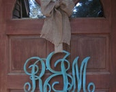 Wooden Family or Individual Initial Monogram Door Decor