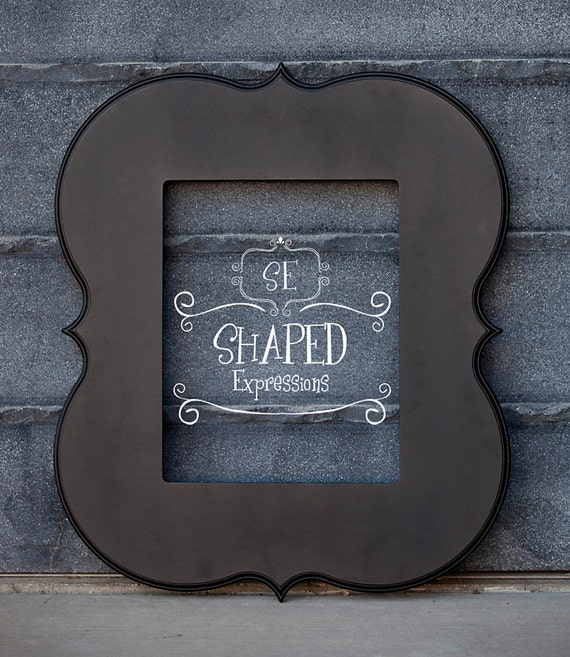 11x14 curvy picture frame - Enchanted in Black