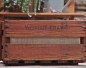 Vintage Wooden Planter made from German Wine Crate
