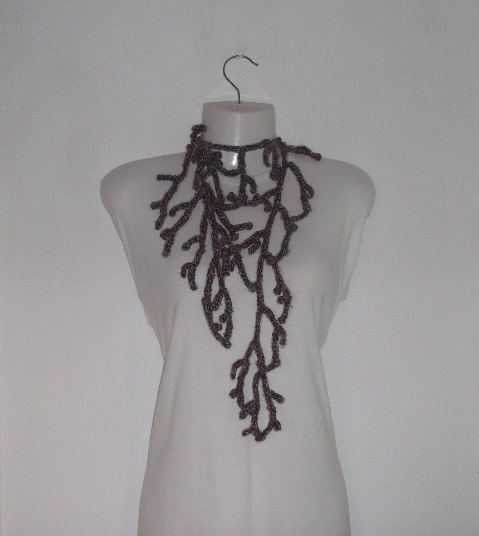 CROCHET PATTERN Romantic accessories Neck Scarf by AlexHandicrafts Neck Scarves Crochet Patterns