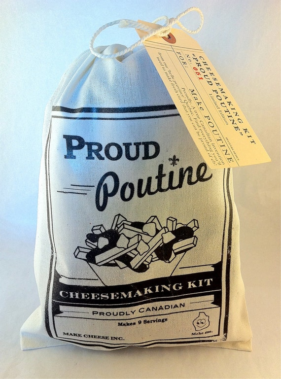 Poutine Kit - Make your own cheese curds. Gravy included.