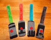 Crochet Lightsaber Ice Pop Cozies