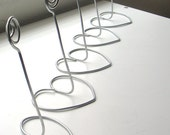 20 Silver table number holder
