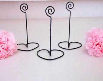 Black wire Table number holders - SAMPLE LISTING