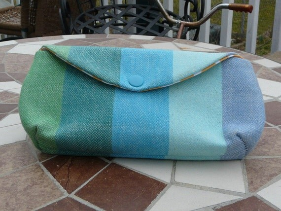 Girasol Snow Rainbow clutch - Cool blues