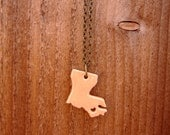 Baby Louisiana Ceramic State Pride Necklace