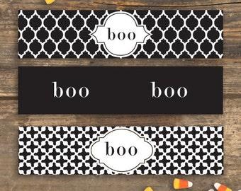 Halloween Bottle Labels - DIY Printable - Boo
