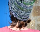 RESERVED FOR FRED - Korrigan : handspun and handknitted women or children hat with little bells