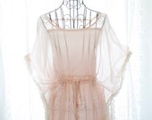Rosort fairytale sheer chiffon pale pink butterfly sleeves tie waist lace corcheting trim blouse w/ pink tube top 2pcs set