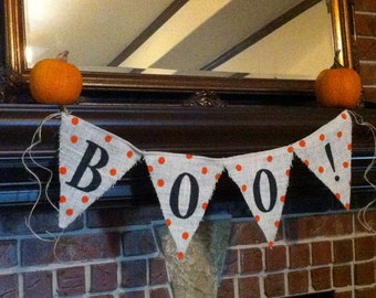 BOO SIGN, Halloween Garland, Halloween Banner, Halloween Party Decor, Halloween Decorations, Boo Banner, Halloween Decor, Fall Decor