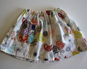Floral with Vintage Print Toddler Skirt 2T-3T