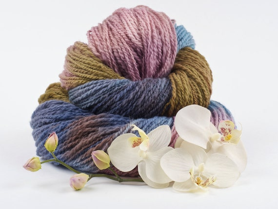 RESERVED for Frances - Handspun Yarn - 536 yards Merino Lace Weight - The Garden