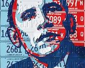 Obama Hope Poster  Illinois License Plates Canvas Print