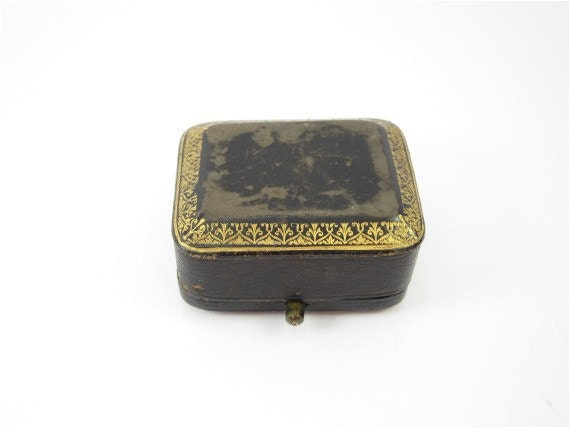 RESERVED FOR N. Antique french jewelry box, victorian box, black and gold