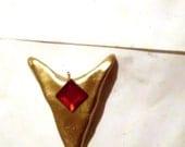 Zelda Goron's Ruby Spiritual Stone Pendant Necklace Charm