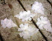 Rustic White Flower Table Decoration, Wedding, Fabric Flower, Table Decor, Floral Accent, Set of 6, embellishment, rustic, country, vintage