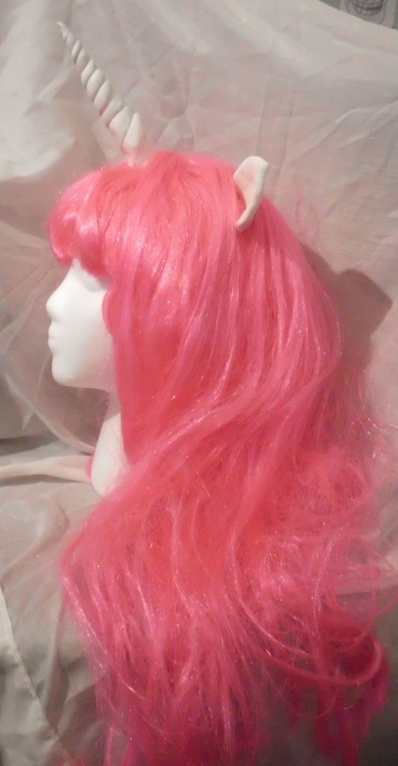 Unicorn Wig Pink Unicorn Horn Costume Wig My Little Pony Cosplay  Pinkie Pie Sweetie belle Headband mlp