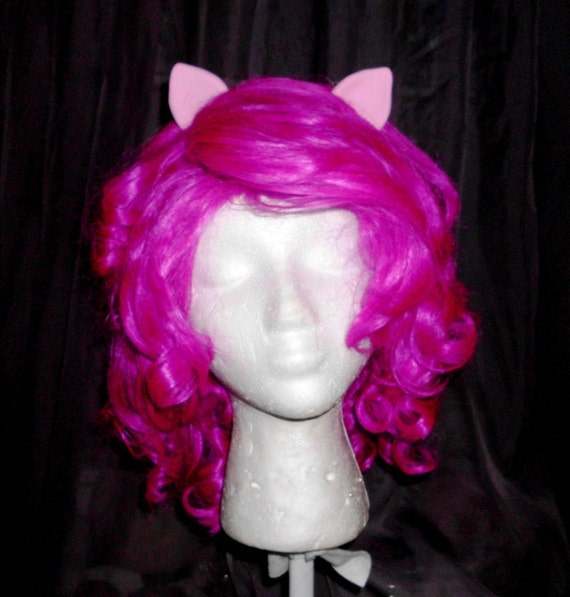 Pinkie Pie Wig MLP Costume Wig My Little Pony Cosplay Burlesque Friendship is Magic Dark Pink Curly Wig