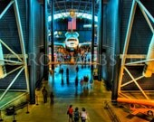 The Space Shuttle at the Air and Space Museum in HDR, 8X10 Fine Art Photo Print