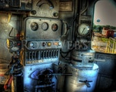 In the Train Engine HDR Fine Art Photograph Print, 8x10