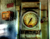 Speed Recorder from Train Engine, HDR Fine Art Photograph Print,  8x10
