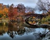 Central Park in Autumn num 3,  8x10 HDR Fine Art Photo Print