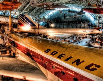 Air and Space 2: Planes in HDR, 8X10 Fine Art Print
