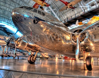 "Boeing 307 Stratoliner ""Clipper Flying Cloud"" in HDR, 8X10 Fine Art Print"