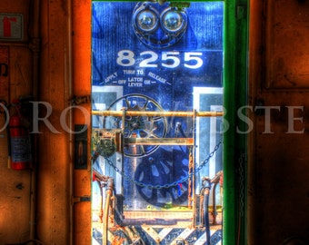 Train HDR Fine Art Photograph Print, Looking Engine-ward 8x10