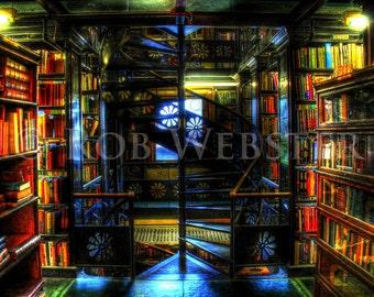 Trans-Allegheny Bookstore 10, HDR  8x10 Fine Art Photo