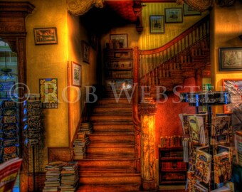 Trans-Allegheny Bookstore 12, HDR  8x10 Fine Art Photo
