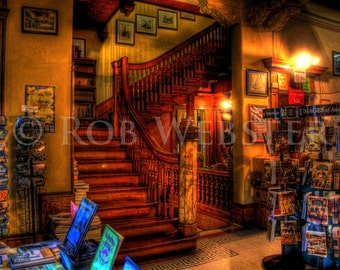 Trans-Allegheny Bookstore 13, HDR  8x10 Fine Art Photo