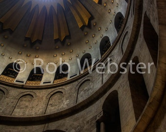 Church of the Holy Sepulchre 17, Jerusalem, 8x10 Fine Art HDR Israel Photo