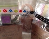 Holiday Grab Bag (stamps, ink pad, stickers, deco tape) SPECIAL