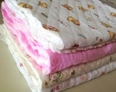 On Sale: A Bundle Pack of Square Kawaii Cotton Knit Fabric, Cotton Padding, Quilted LIning - 4 Patterns (3200)