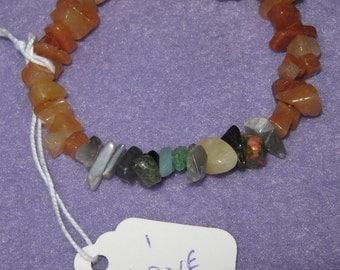 I Love You - Secret Message Bracelet in natural Carnelian gemstones - one size fits all