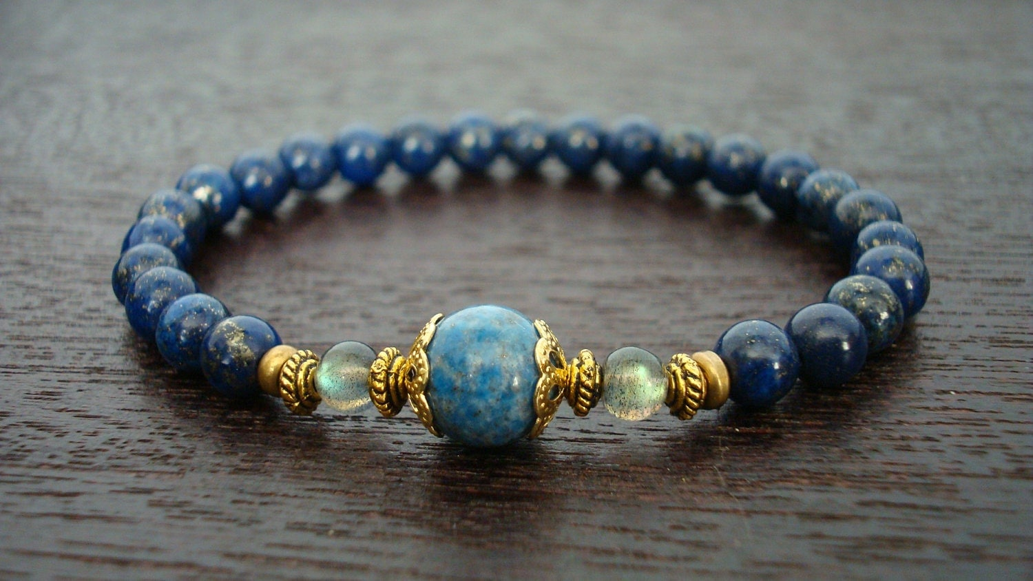strength bracelet womens strength intuition mala bracelet lapis lazuli and 5341