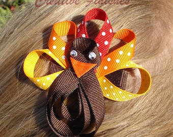 Thanksgiving Bow Turkey Clip