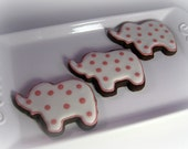 Reserved for Kasey  Baby Pink Elephant Cookies - Set of 24 Cookies