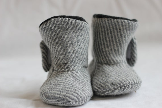Baby Boots, Gray - The Brittany