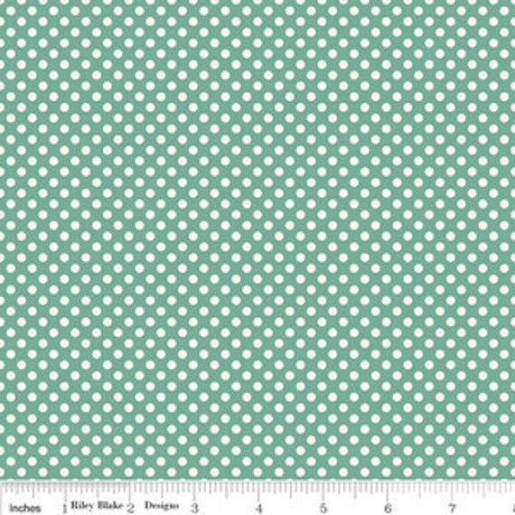 Emily Taylor for Riley Blake - Verona Dots in Teal C2805  - 1 yard (BTY)