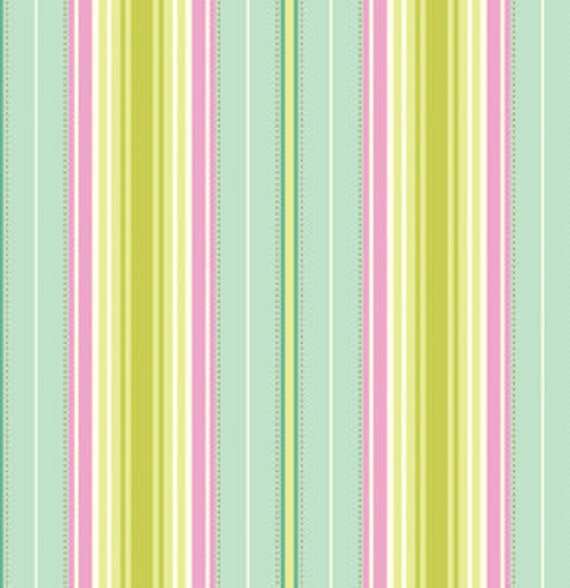 SALE SALE - Heather Bailey Freshcut Lounge Stripe in Turquoise - HB027 - 1 Yard, additional avail.