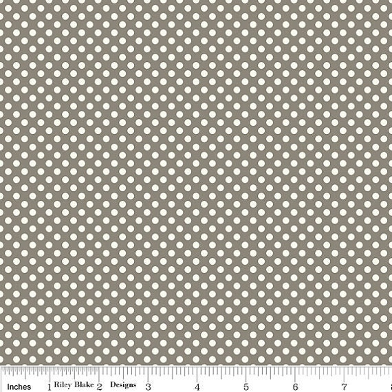 Emily Taylor for Riley Blake - Verona Dots in Gray C2805  - 1 yard (BTY)