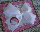 Wonderfully Made 4 Inch Bow Prints Half Pinwheel Hair Bow--Ready to Ship
