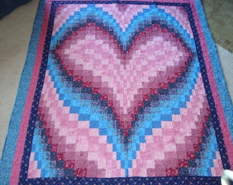 Bargello Heart Quilt--price lowered!
