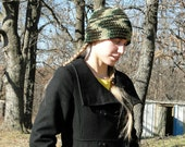 Camo Hat: Crocheted Beanie/ Camouflage Women's Hat Winter, Fall, Hunting