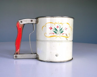 Vintage Androck Hand-I-Sift Sifter Flour Metal Cooking Baking